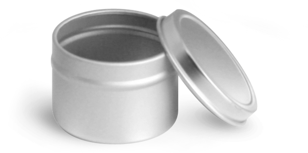 1 oz Deep Metal Tins w/ Rolled Edge Covers