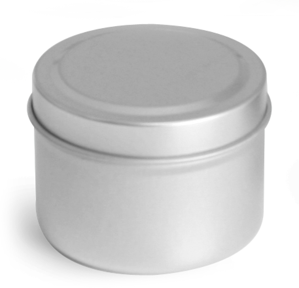 Deep Metal Tins w/ Rolled Edge Covers