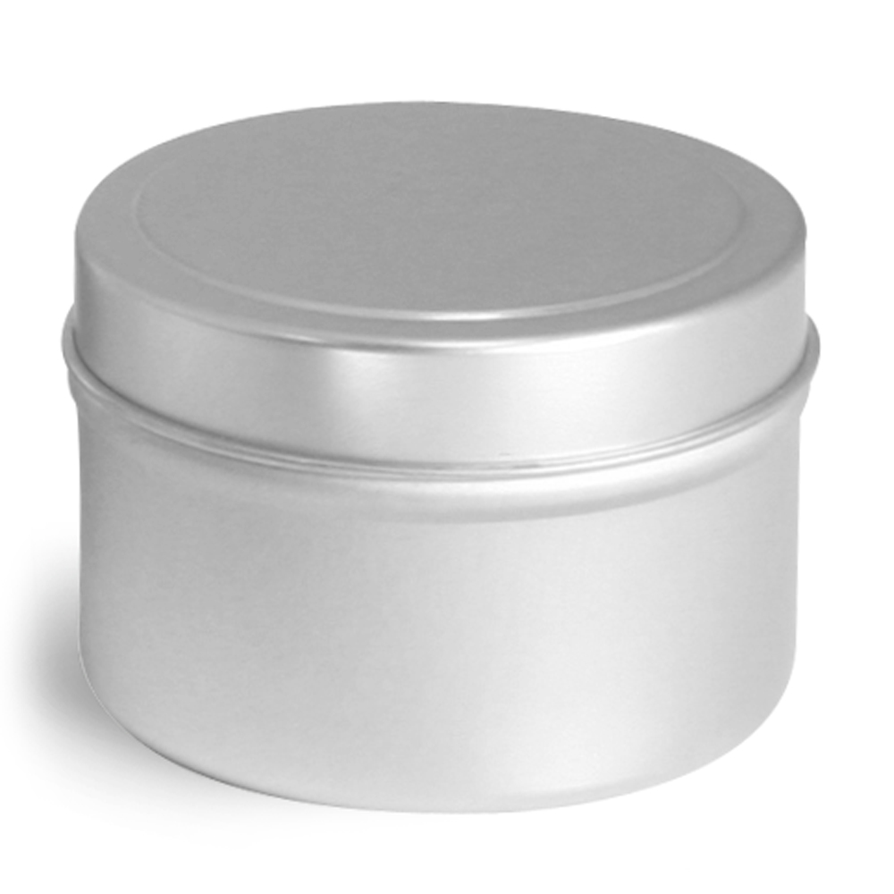 4 oz * Deep Metal Tins w/ Rolled Edge Covers