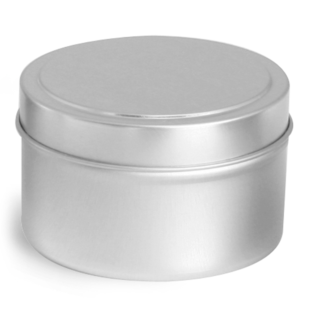 6 oz * Deep Metal Tins w/ Rolled Edge Covers
