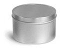 8 oz 8 oz Deep Metal Tins w/ Rolled Edge Covers