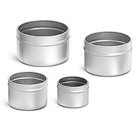 4 oz Deep Metal Tin Bottoms (Bulk, No Covers)