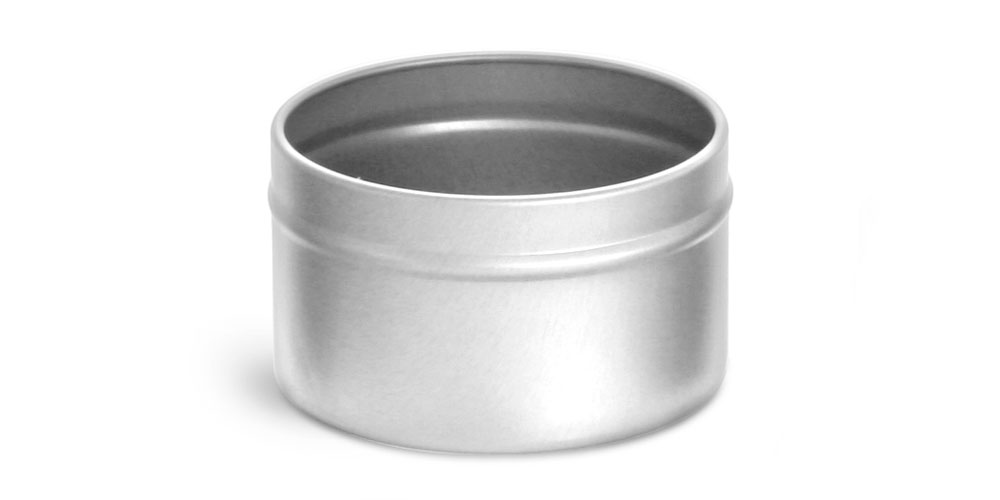 6 oz Deep Metal Tin Bottoms (Bulk, No Covers)