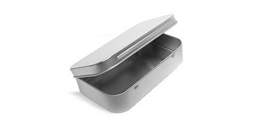 Hinge Top Metal Tins
