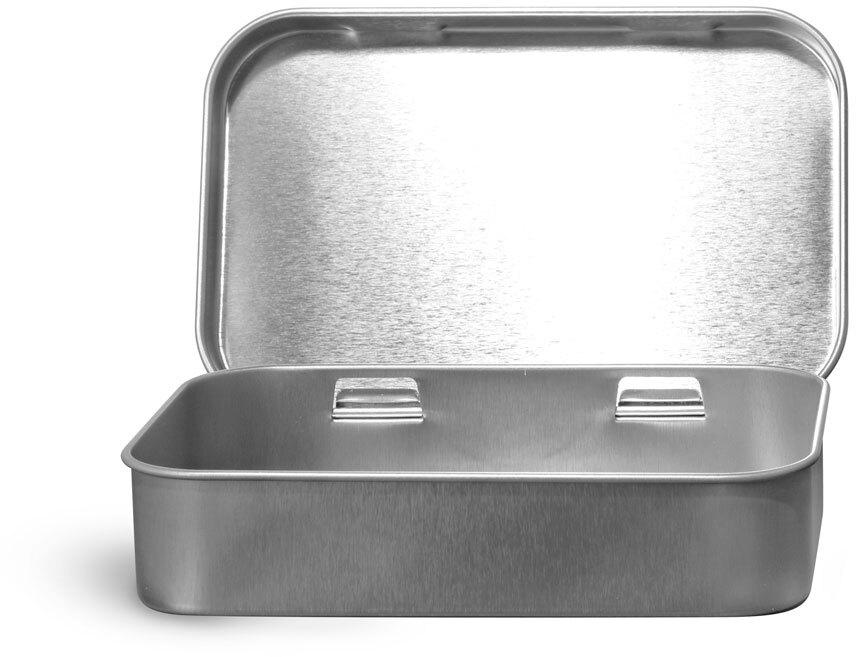 Hinge Top Metal Tins