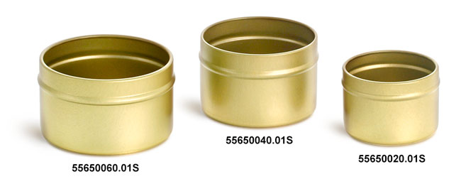 Gold Metal Tins (Bulk, No Covers)