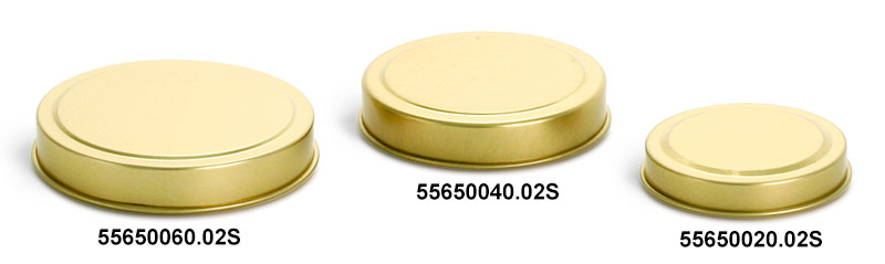 Gold Metal Tins Covers (Bulk, No Bottoms)