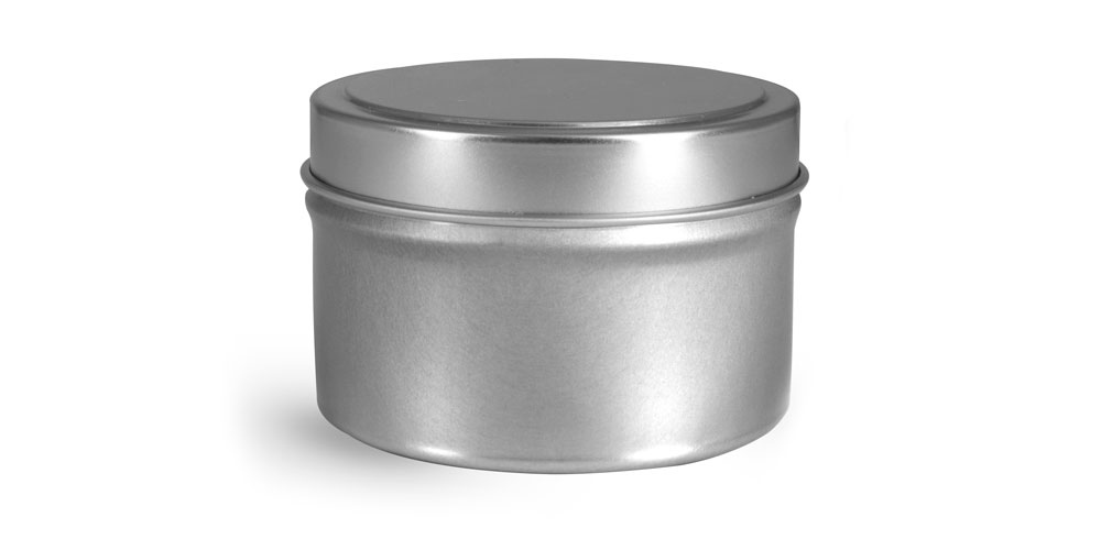 6 oz Footed Candle Tins w/ Rolled Edge Cover