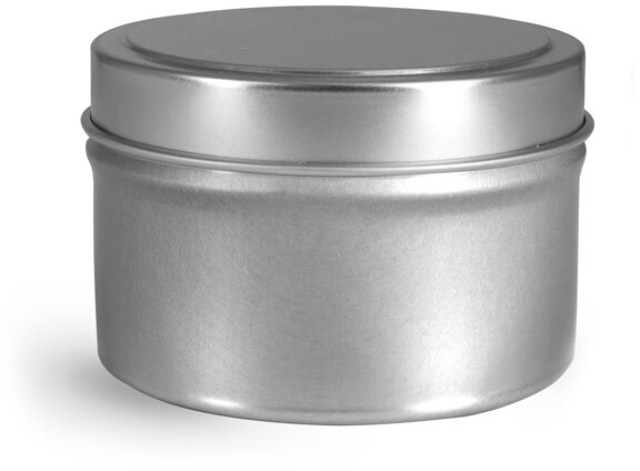 Footed Candle Tins w/ Rolled Edge Cover