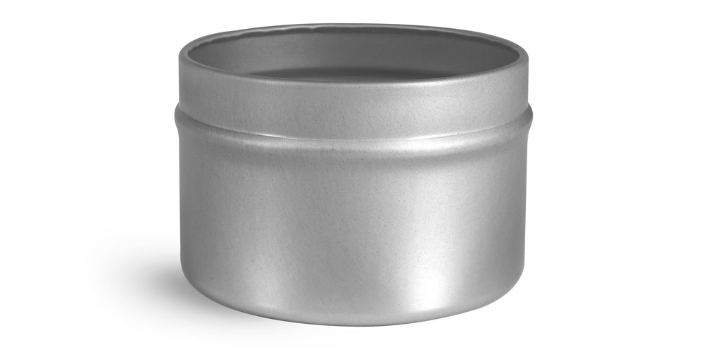 4 oz Footed Candle Tins (Bulk), Tops NOT Included