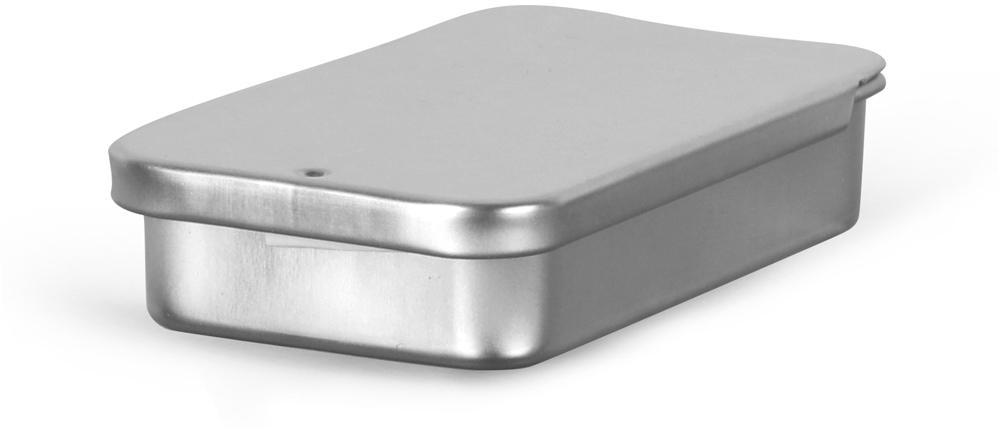 Metal Containers, Slide Top Metal Tins