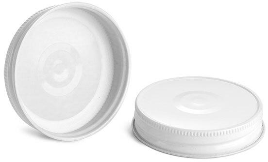 Metal Caps, White Metal Plastisol Lined Caps w/ Button
