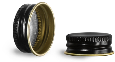 Original 24/400 Black Metal Foil Lined Caps