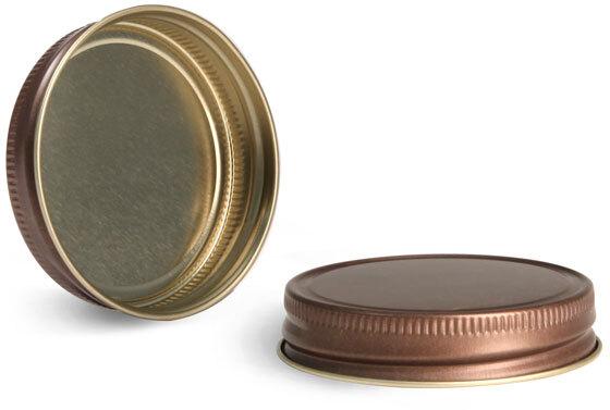 Metal Caps, Rustic Bronze Unlined Metal Closures