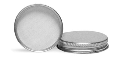 Metal Caps, Silver Aluminum PE Lined Caps