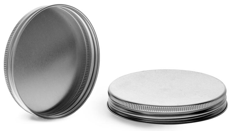 Silver Aluminum Unlined Caps