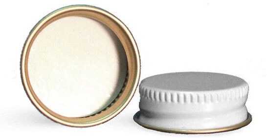White Metal Pulp/Poly Lined Caps