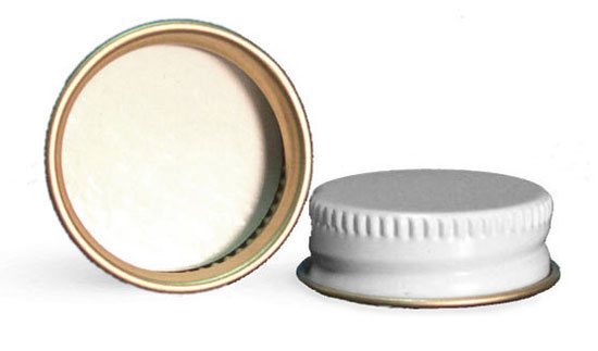 Metal Caps, White Metal Pulp/Poly Lined Caps