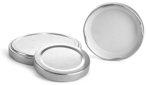 Metal Caps, Silver Metal Plastisol Lined Lug Caps