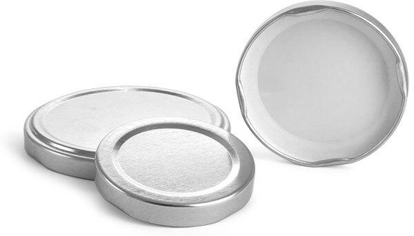 Silver Metal Plastisol Lined Lug Caps