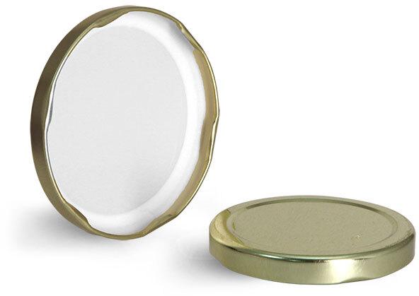 Gold Metal Plastisol Lined Lug Caps