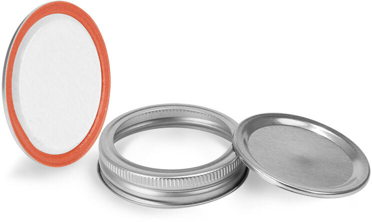 Metal Caps, Silver Plastisol Lined Canning Lids