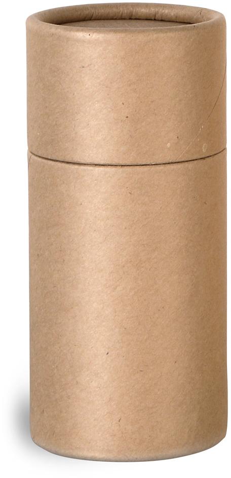 Brown Paperboard Push Up Lip Balm Tubes