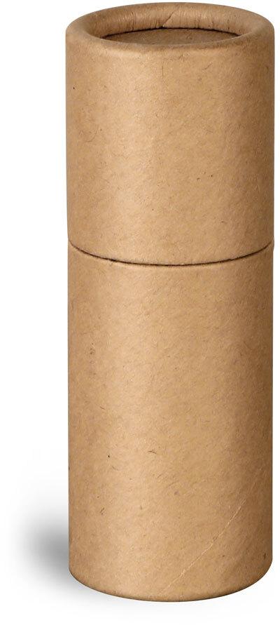 Paperboard Packaging, Brown Paperboard Push Up Lip Balm Tubes