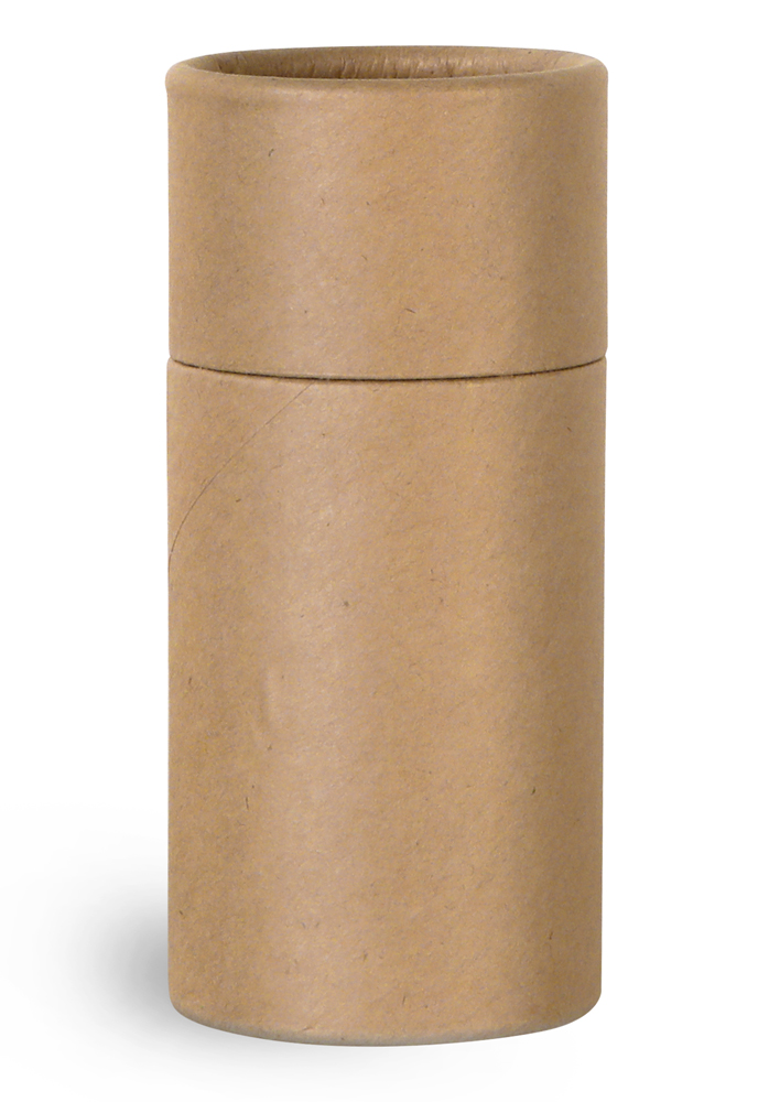 1.5 oz Paperboard Packaging, Brown Paperboard Push Up Lip Balm Tubes