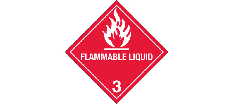 "Hazard Labels, ""Flammable Liquid"" Hazardous Labels, Class 3"