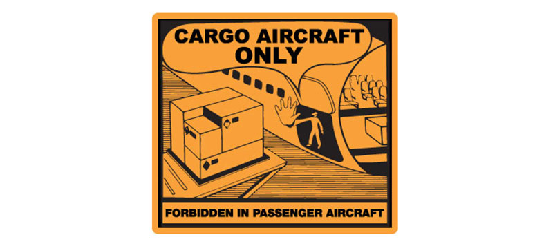 "Hazard Labels, ""Cargo Aircraft Only"" Printed Shipping Labels"