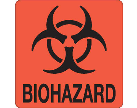 "Hazard Labels, ""Biohazard"" Printed Shipping Labels"
