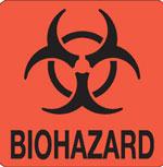 """Hazard Labels, """"Biohazard"""" Hazardous Labels"""
