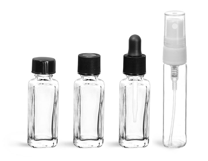 Glass Amenity Bottles