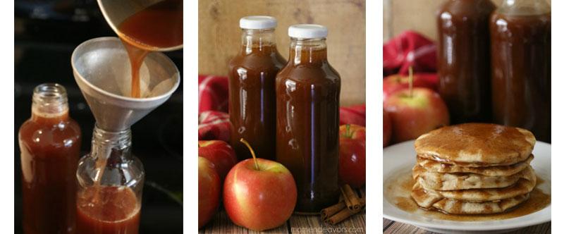 DIY - Apple Cider Syrup in Glass Beverage Bottles