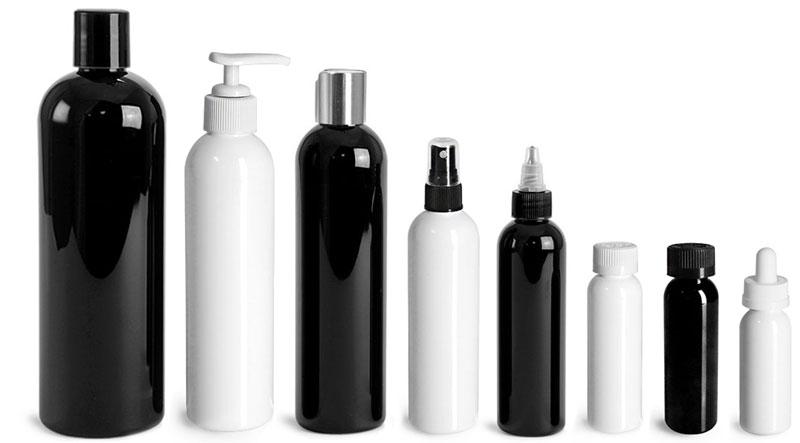 Black & White Cosmo Round Bottles