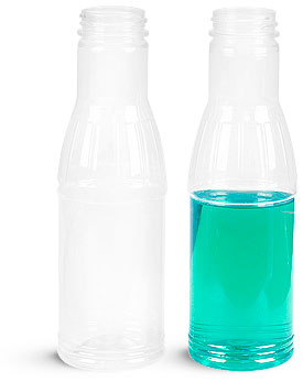 12 oz Clear PET Sauce Bottles