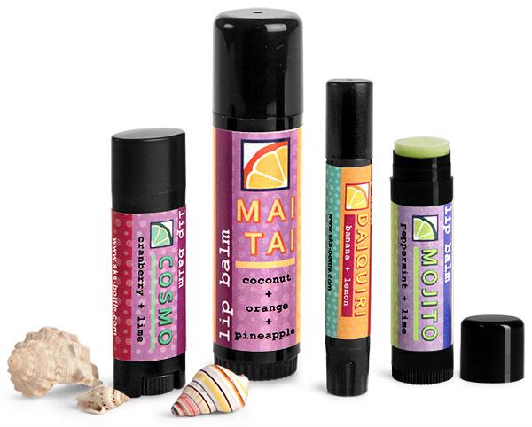 Black Plastic Lip Balm Tubes