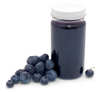 Blueberry Preserve Canning Jars