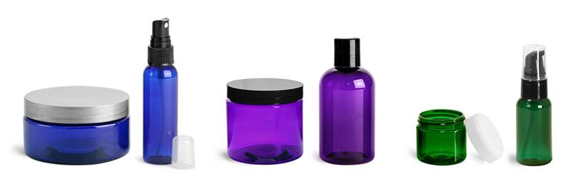 Colored Jars & Bottles