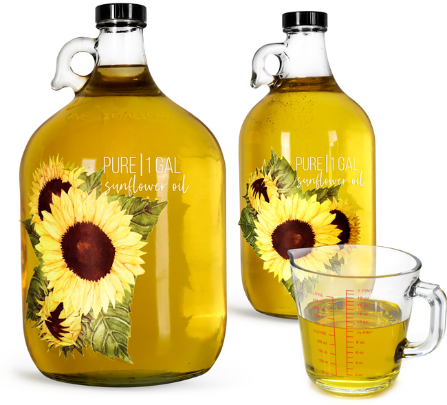 Bulk Glass Cooking Oil Jugs