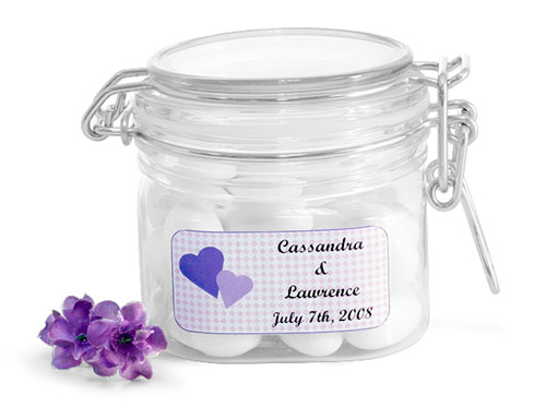 Clear PET Wire Bale Jar Wedding Favor Ideas