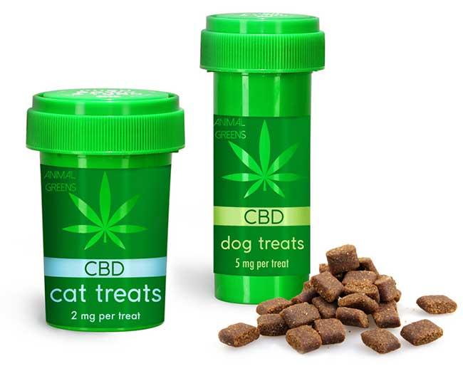 Child Resistant Vials For CBD Dog & Cat Calming Treats