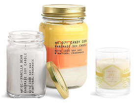 Candle Containers, Jars and Tins