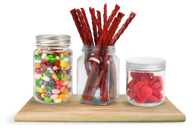 Glass Candy Jars