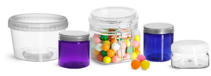 Plastic Candy Jars