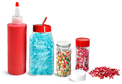 Glass and Plastic Candy Containers