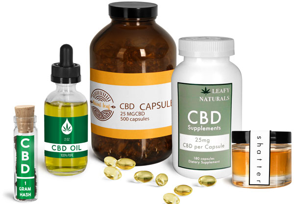 CBD Capsule & Concentrate Containers