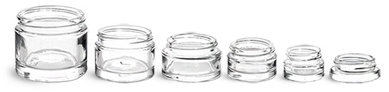 Clear Glass Cosmetic Jars