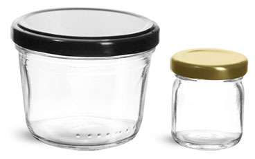 Clear Glass Round Jelly Jars